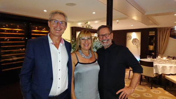 Markus und Anneliese Bühler und Armin Amrein an Bord der Excellence Princess