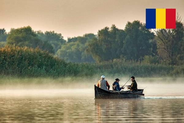 Fischer im Donaudelta