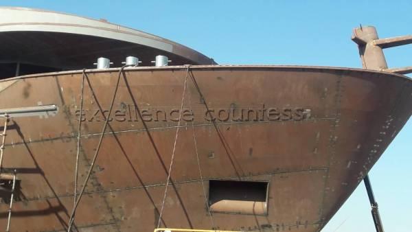 Die Excellence Countess in der Vahali-Werft in Mitrovica, Serbien