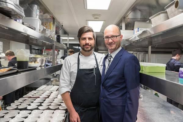 Stephan Frei mit Sven Wassmer am 5. Excellence Gourmetfestival