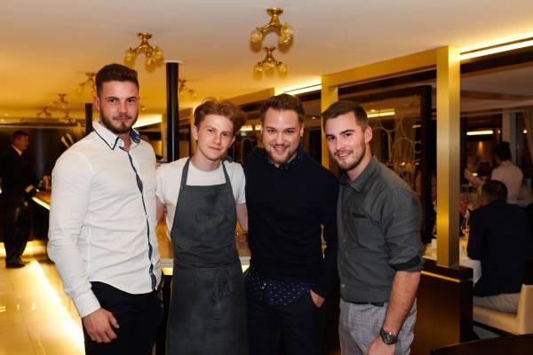 Michael Graber mit Luca und Roman Wiesendanger mit Flynn McGarry an Bord der Princess