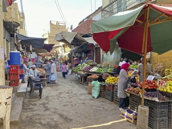 Der Gemüsemarkt in Assuan